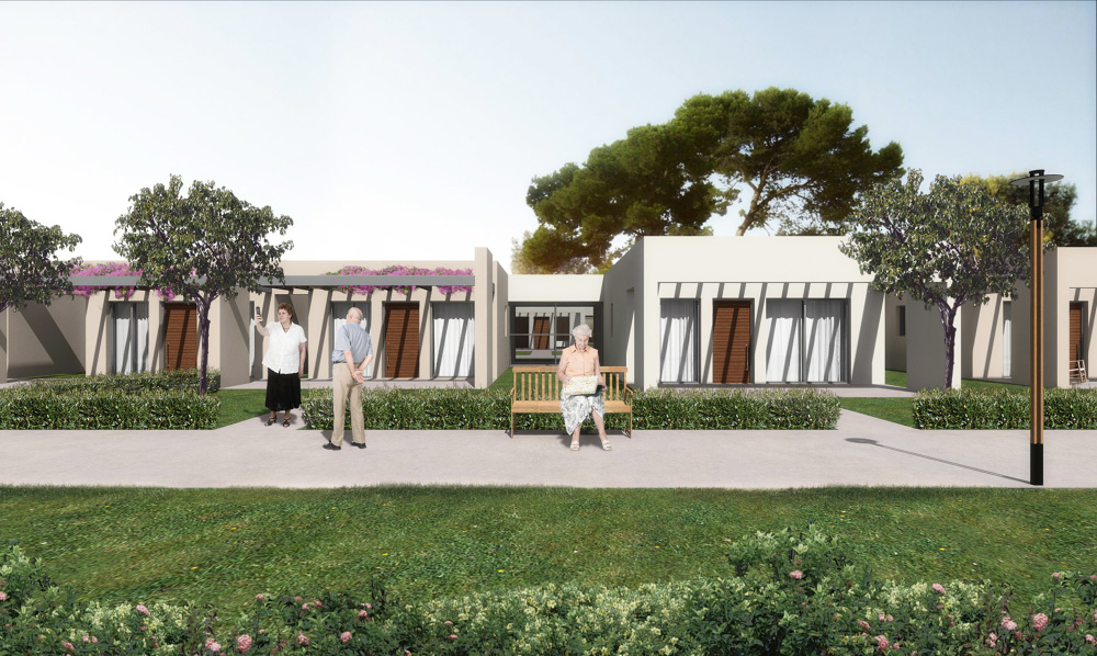 Housing complex for elderly people achilles kalogridis for Architecture design for old age home
