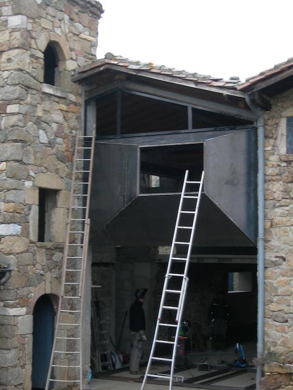 facade en corten condrieu atelier simon. Black Bedroom Furniture Sets. Home Design Ideas